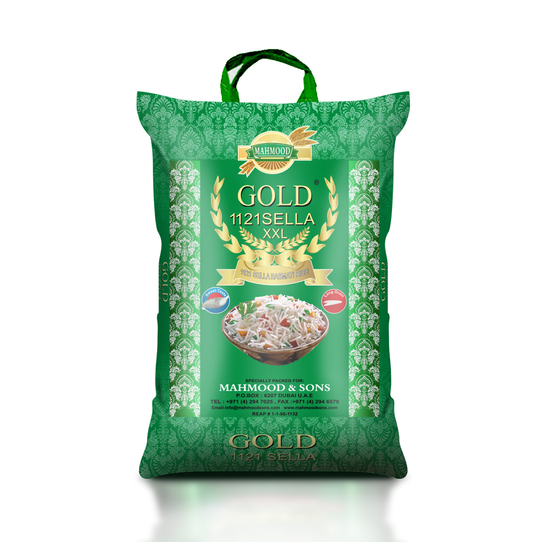 GOLD Sella Basmati Rice 1121 XXL