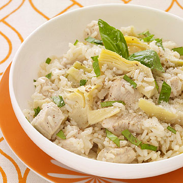 EUROPEAN CUISINE - Chicken and Artichoke Risotto